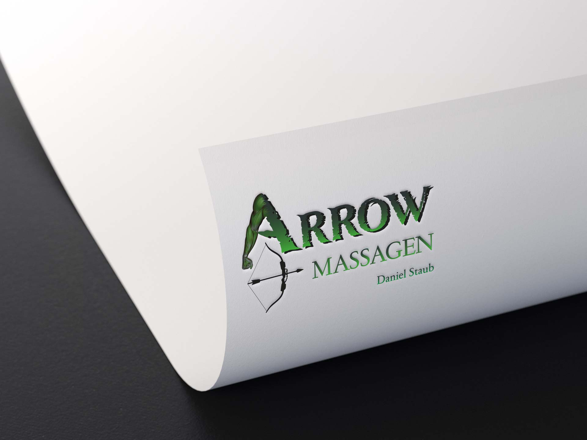 Logo-Design-arrow-massagen
